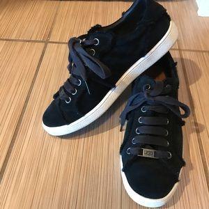 Black Suede UGG shoes. Size 8.